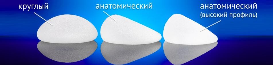 фото: виды грудных имплантов